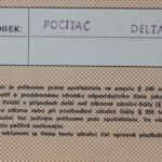 Delta - Záruční list